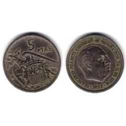 Estado Español. 1957*(64). 5 Pesetas (MBC-)