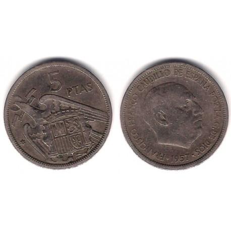 Estado Español. 1957*(58). 5 Pesetas (BC)