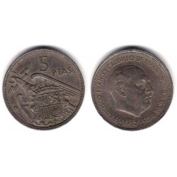 Estado Español. 1957*(66). 5 Pesetas (BC)
