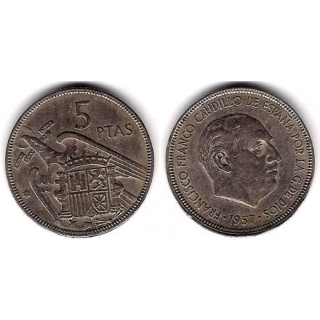 Estado Español. 1957*(63). 5 Pesetas (MBC)