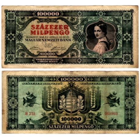 (127) Hungria. 1946. 100000 MilPengo (BC)