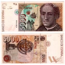 España. 1992. 5000 Pesetas (SC) Sin Serie