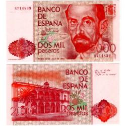 España. 1980. 2000 Pesetas (SC) Sin Serie