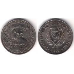 (59) Chipre. 1986. 1 Pound (SC)