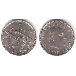 Estado Español. 1957*(67). 5 Pesetas (MBC)