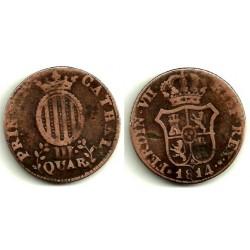 Fernando VII. 1814. 3 Cuartos (BC) Ceca de Cataluña