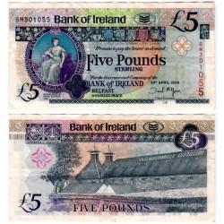 (83a) Irlanda del Norte. 2008. 5 Pounds Sterling (BC+)