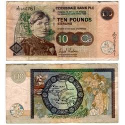 (226f) Escocia. 2006. 10 Pounds Sterling (BC+) Pequeñas manchas