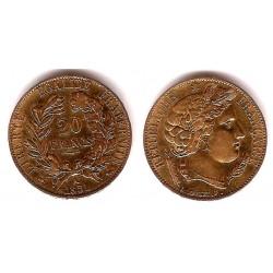 Francia. 1851(A). 20 Francs (MBC+) (Oro)