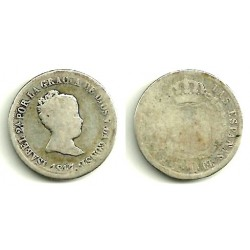 Isabel II. 1847. 2 Reales (RC) (Plata) Ceca de Madrid CL