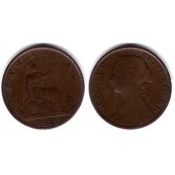 (747.1) Gran Bretaña. 1860. Farthing (BC+)
