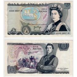 (378b) Gran Bretaña. 1971-91. 5 Pounds (MBC+)