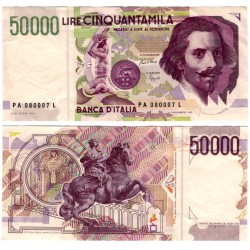 (116a) Italia. 1992. 50000 Lira (MBC+)