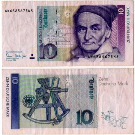 (38a) Alemania. 1989. 10 Mark (BC)