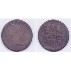 Isabel II. 1848. 8 Maravedí (RC) Ceca de Jubia