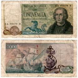 (102a) Italia. 1971. 50000 Lira (BC) Pequeñas roturas y manchas