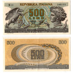 (93a) Italia. 1966. 500 Lira (EBC)