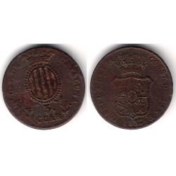 Isabel II. 1837. 3 Cuartos (RC+) Ceca de Cataluña