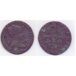 Isabel II. 1846. 8 Maravedí (BC) Ceca de Jubia