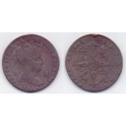 Isabel II. 1845. 8 Maravedí (BC) Ceca de Jubia