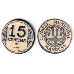 Manresa. 1937. 15 Céntimos (SC)