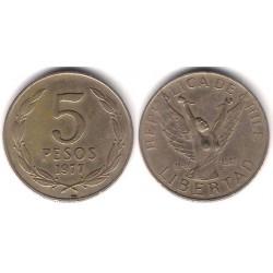 (209) Chile. 1977. 5 Pesos (MBC)