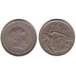 Estado Español. 1957*(61). 25 Pesetas (BC)