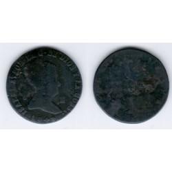Isabel II. 1844. 8 Maravedí (RC) Ceca de Jubia