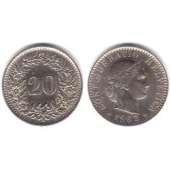 (29a) Suiza. 1963. 20 Rappen (EBC+)