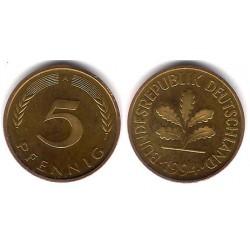 (107) Alemania. 1994(A). 5 Pfennig (SC)