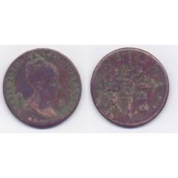 Isabel II. 1850. 8 Maravedí (RC) Ceca de Jubia