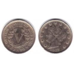 (112) Estados Unidos de América. 1907. 5 Cents (MBC)