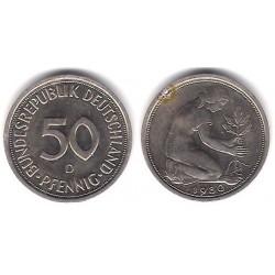 (109.2) Alemania. 1980(G). 50 Pfennig (MBC-)