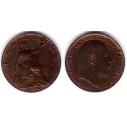 (792) Gran Bretaña. 1910. Farthing (MBC+)