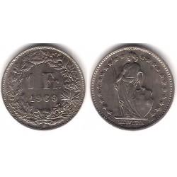 (24a.1) Suiza. 1969. 1 Franc (MBC)