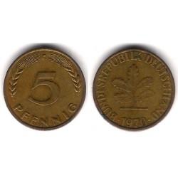 (107) Alemania. 1970(D). 5 Pfennig (MBC)