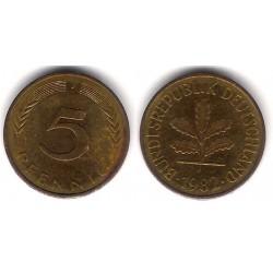 (107) Alemania. 1982(J). 5 Pfennig (BC+)