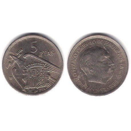 Estado Español. 1957*(68). 5 Pesetas (BC)