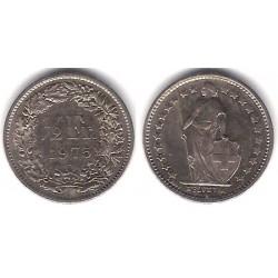 (23a.1) Suiz. 1975. ½ Franc (MBC+)