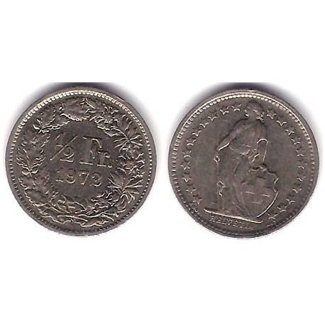 (23a.1) Suiza. 1972. ½ Franc (MBC+)