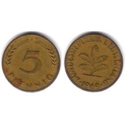 (107) Alemania. 1969(T). 5 Pfennig (BC)
