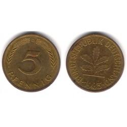 (107) Alemania. 1983(D). 5 Pfennig (MBC)