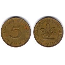 (107) Alemania. 19741(G). 5 Pfennig (BC+)