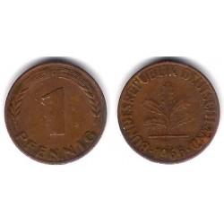 (105) Alemania. 1966(D). 1 Pfennig (MBC)