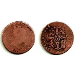 Isabel II. 1840. 8 Maravedi (RC) Ceca de Segovia