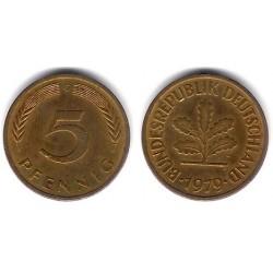 (107) Alemania. 1979(G). 5 Pfennig (MBC)