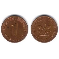 (105) Alemania. 1981(J). 1 Pfennig (MBC-)