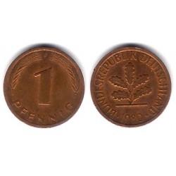 (105) Alemania. 1980(F). 1 Pfennig (BC+)