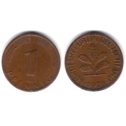 (105) Alemania. 1975(G). 1 Pfennig (BC+)