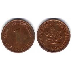 (105) Alemania. 1985(J). 1 Pfennig (MBC)